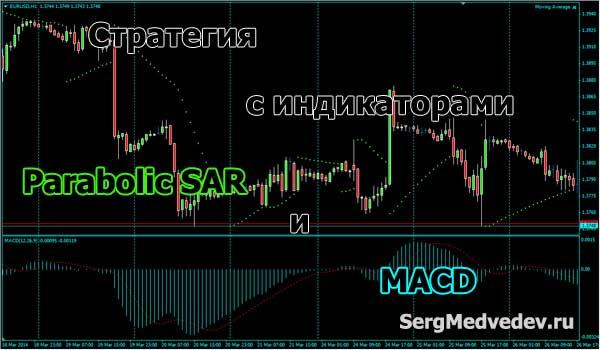 Хорошая стратегия торговли с индикаторами Parabolic SAR и MACD