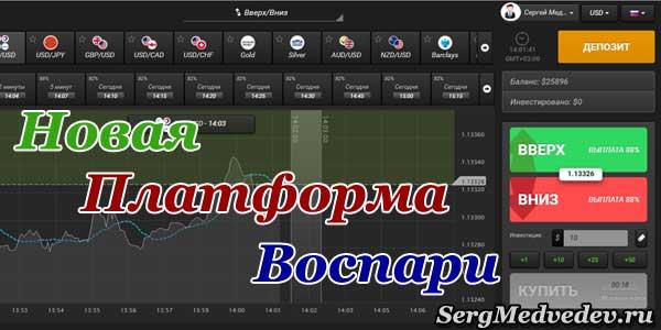 Торговая платформа брокера Воспари