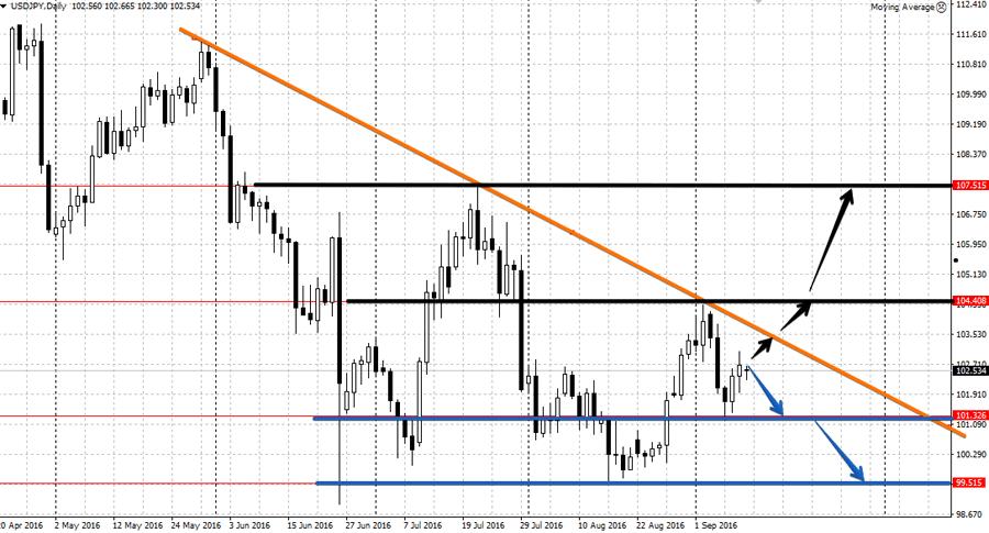 Анализа валютной пары USD/JPY 12.09-16.09