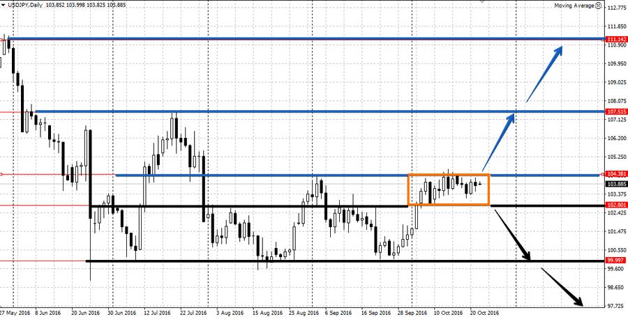Прогноз по валютной паре USD/JPG 24-28 октября