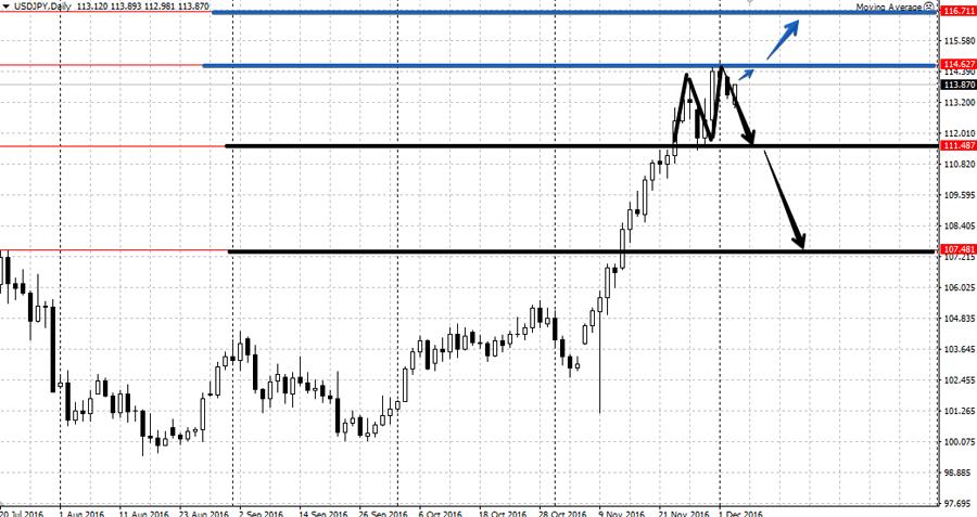 Аналитика по валютной паре USD/JPY на неделе 5-9 декабря