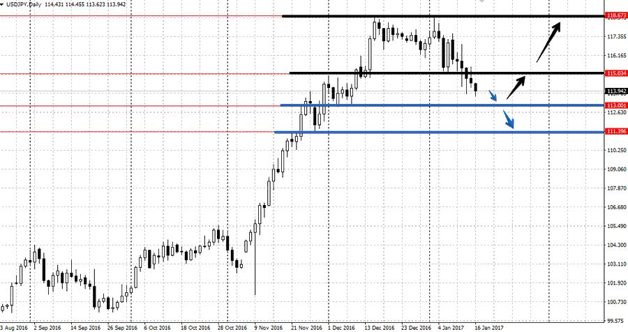 Прогноз по валютной паре USD/JPY на неделю 16-20 января