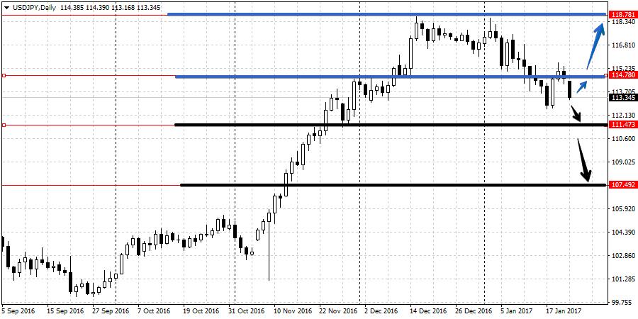 Прогноз валютной пары USD/JPY с 23 по 27 января