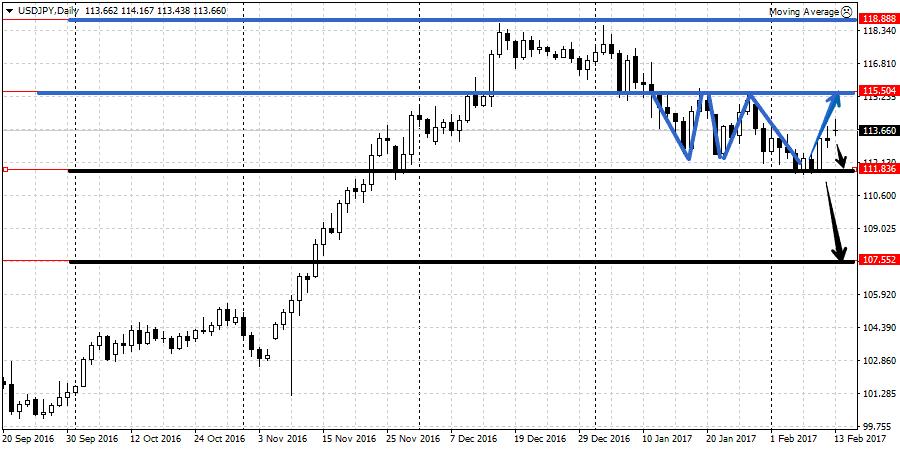 Прогноз валютной пары USD/JPY на неделе 13-17 февраля
