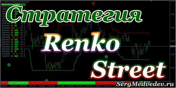 Стратегия Renko Street. Час работы и 100$ в кармане