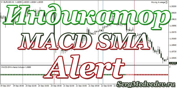 Индикатор MACD SMA Alert