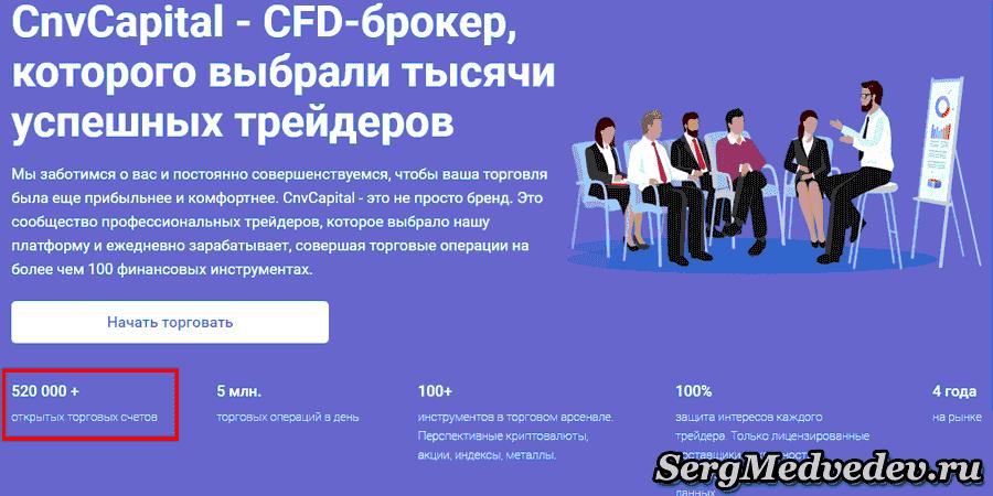 CnvCapital: количество аккаунтов