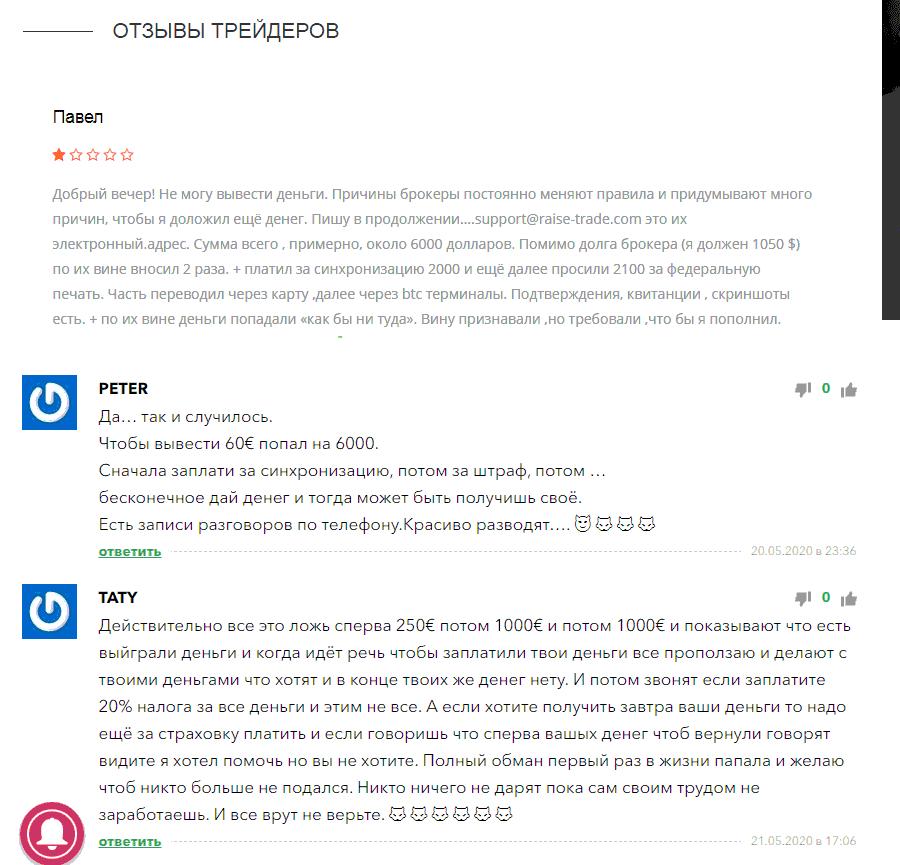 raise-trade.com отзывы клиентов