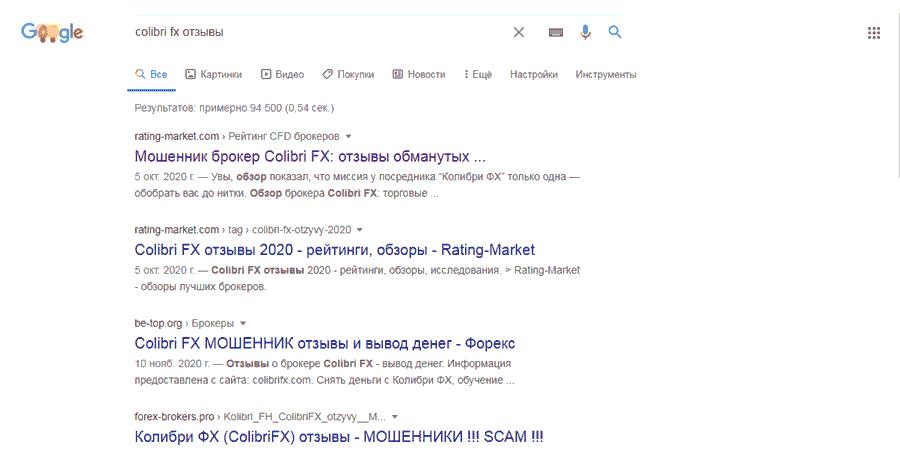 Colibri FX отзывы