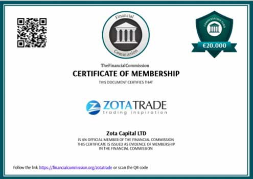 Лицензия ZotaTrade The Financial Commission