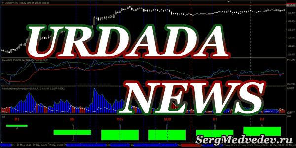 Индикатор новостей для MT4 на русском языке Urdala News